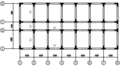 Model layout (units: mm)