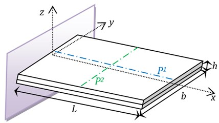 Geometrical parameters of the plate