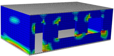 Damages of the single-layer building under different excitations