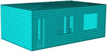 Finite element model of the reinforced model