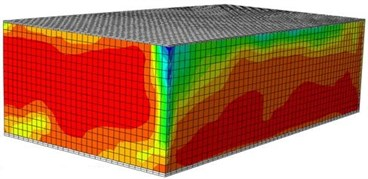 Damages of the reinforced building under different excitations