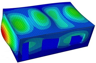 Vibration shapes of the single-storey building at top 6 orders