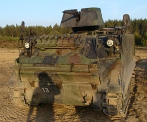 a) The M113 b) Dynamic model of the M113