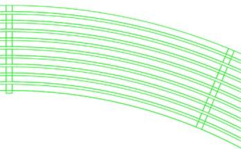 a) is the model of 10 rings, b) is the model of 35 rings