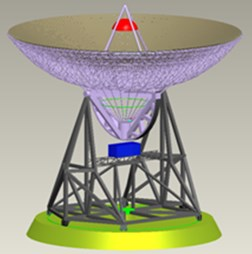 110 m-diameter fully-steerable antenna CAD model