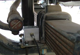 Measuring point of front axle head
