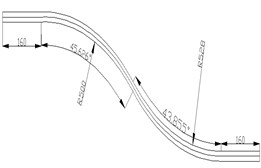 CAD chart of curve  and downhill