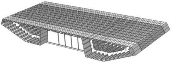 Finite element model of steel-structure bridge (without struts)