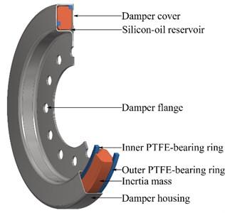 Viscous type torsional vibration damper - laser welded technology
