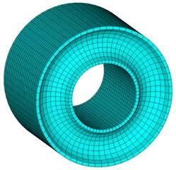 FE model of rubber element