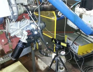 Measurement of crankshaft pulley angular vibrations
