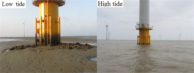 Low and high tide of the tower of wind power