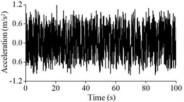 Acceleration vibration signals of A5