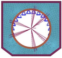 Finite element model of satellite base plate