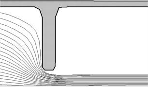 The particle trajectories  diameter 10 mm