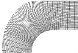 Curved orthogonal net curved pipe