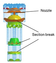 Propagation process of main impact stress wave in drill body