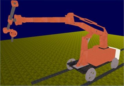 Virtual prototype system of shotcret robot (work posture)
