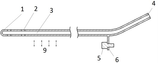 Ultrasonic blood vessels cleaning device (cross-section)