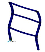 The first five modes of the structure according to the ANSYS software