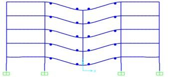 Plastic hinge result of frames