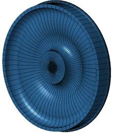 Boundary element model of radiation noise of wheels