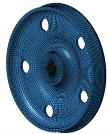 Boundary element model of wheels with 5 holes