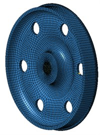 Boundary element model of wheels with 6 holes