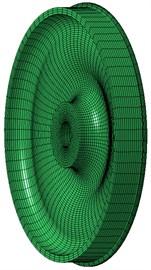 Geometric model and finite element model of wheels