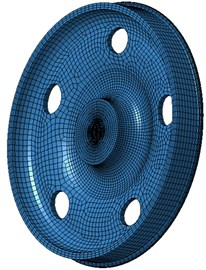 Boundary element model of wheels with ellipse holes