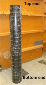The cylinder used for the FEM and the experimental study, and its coordinates