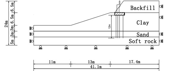 Schematic of cross section of model