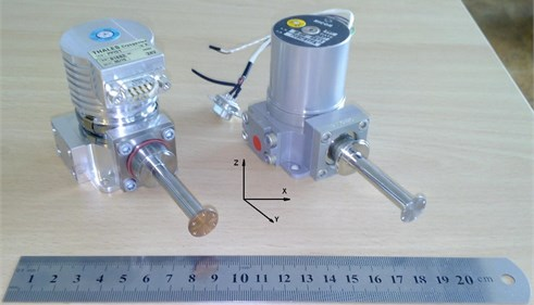 Photograph of the Thales RM3 and Ricor K508 miniature Stirling cycle coolers