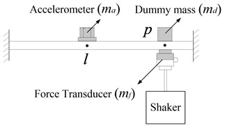 Measurements using accelerometers and dummy mass