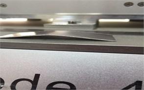 Experimental setup: a) clamping, b) spring back measurement before laser, c) laser irritation,  d) spring back measurement after laser