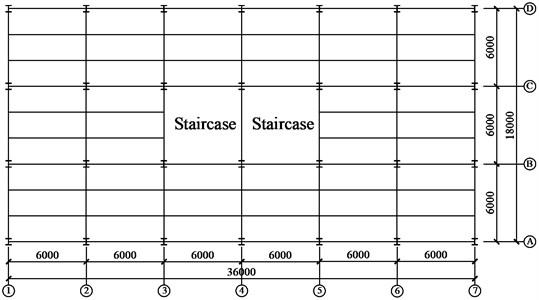 Floor plan of structure
