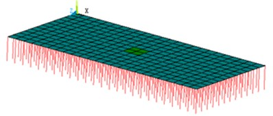 The simulated model for interlayer damage of the ballastless track