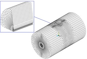 The numerical model of transverse fluid and elastic tube with partitioned method