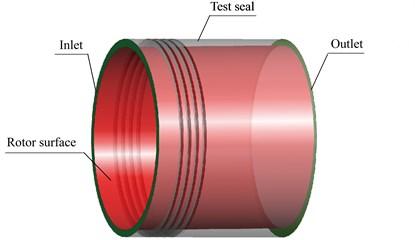 Three dimensional model of experimental labyrinth seal