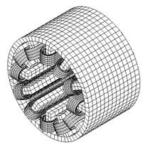 3D FE computing model of BSRM stator