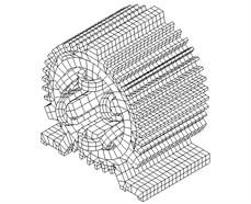 3D FE computing model of the SRM stator