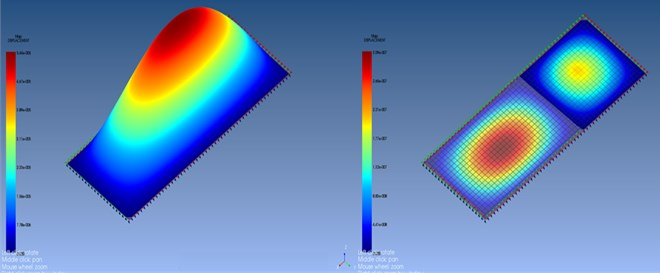 The displacement occurs in the MMC at 4090 and 5000 Hz