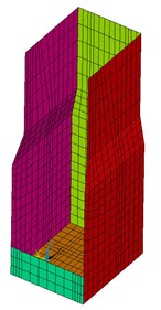 The tower-foundation finite element model