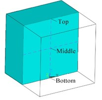 The 50 m and 100 m height finite element model and monitoring points