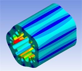 Modal analysis of stator core