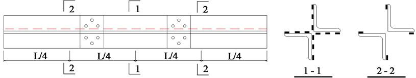 Arrangement of strain gauges in core member