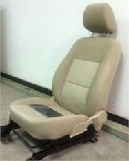 Experimental setup on the automobile seat