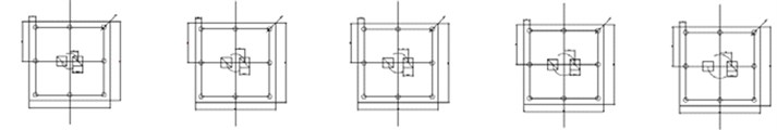 Experimental specimens with differences in the number and position layout of square orifices