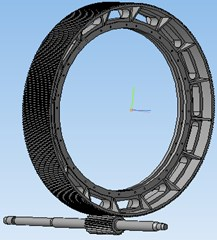 3D Model of gear and pinion assembly