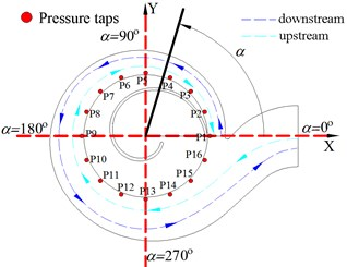 The coordinate and measuring points